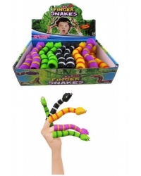 Image of 24 x Rubbery Snake Finger Puppets