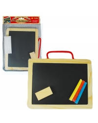 Image of 12 x Wooden Blackboard & Chalk Sets