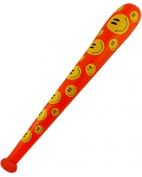 12 x Inflatable Smiley Baseball Bats