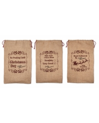 Image of 12 x Hessian Christmas Sacks