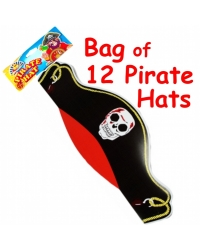 Image of 12 x Pirate Cardboard Hats