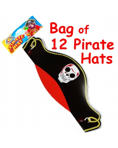 12 x Pirate Cardboard Hats