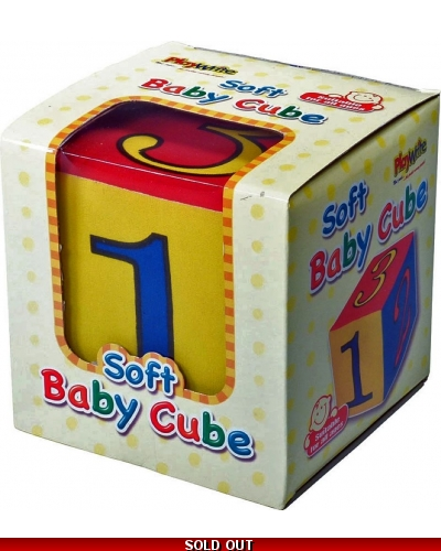 Wrapped Grotto Toys - Soft Baby Cubes x 12