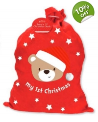 Image of 6 x Babys My First Christmas Sack
