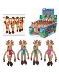 Image of 12 x Plush Hanging Reindeers