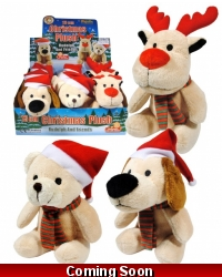 Image of 12 x Plush Christmas Friends 13cm