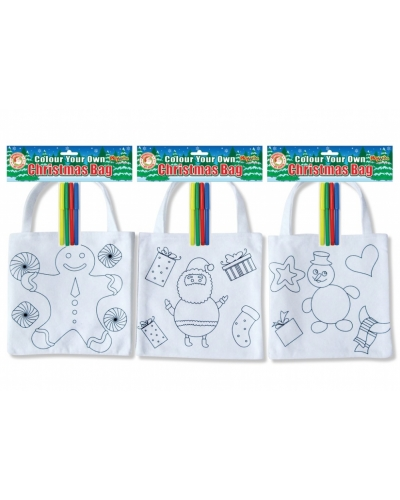 12 x Colour In Felt Gift Bags