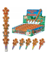 Image of 36 x Gingerbread Swap Point Crayons