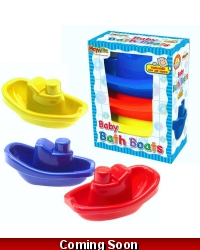 Image of Wrapped Grotto Toys - Baby Bath Boat Set x 12