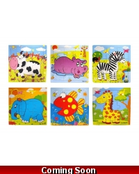 Image of Wrapped Grotto Toys - Wooden Animal Jigsaw x 24