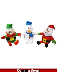 Image of Wrapped Grotto Toys - Plush Christmas 17cm Selection x 12