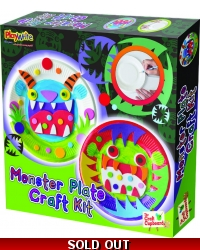 Image of Wrapped Grotto Toys - Monster Plate Craft Set x 6