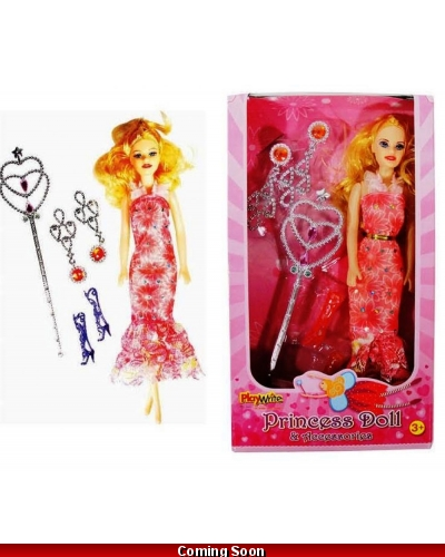 Wrapped Grotto Toys - Princess Dolls & Accessories x 12