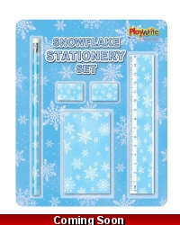 Image of Wrapped Grotto Toys - Snowflake Stationery Sets x 24