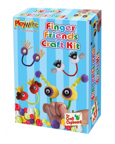 Wrapped Grotto Toys - Finger Friends Craft Kit x 12