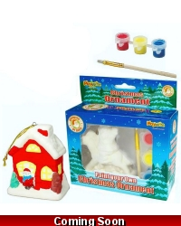 Image of Wrapped Grotto Toys - Paint Your Own Christmas Ornament x 8