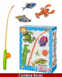 Image of Wrapped Grotto Toys - Magnetic Fishing Games x 12