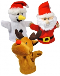 Image of Wrapped Grotto Toys - Christmas Plush Hand Puppets x 12