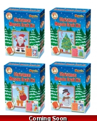 Image of Wrapped Grotto Toys - Christmas Mosaic Craft Kits x 6