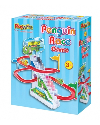Wrapped Grotto Toys - Penguin Race Track x 6