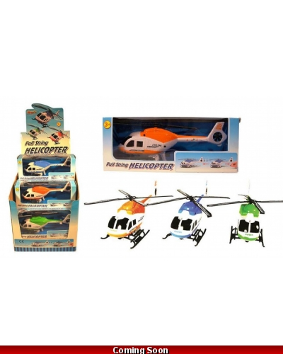 Wrapped Grotto Toys - Pullstring Helicopters x 12