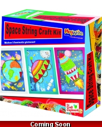 Image of Wrapped Grotto Toys - Space String Craft Kit  x 6