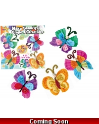 Image of Wrapped Grotto Toys - Crepe Paper Butterfly Craft Kits  x 6
