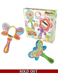 Image of Wrapped Grotto Toys - Wooden Hand Mirror Craft Kits  x 6