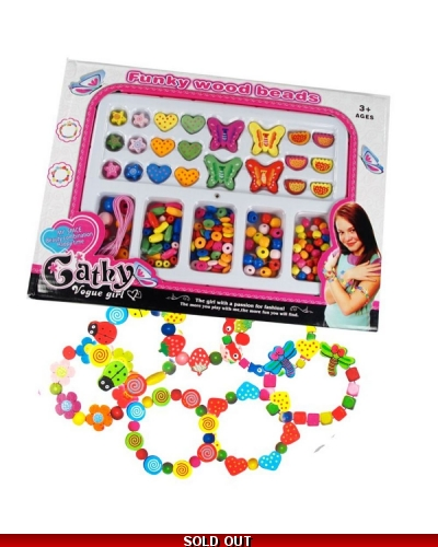 Wrapped Grotto Toys - Wooden Beads Sets  x 6