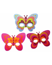 Image of 72 x Foam Butterfly Masks
