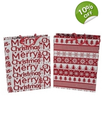 Image of 12 x Medium Christmas Gift Bags