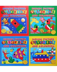 Image of 12 x Mosaic Sticker Fun Books