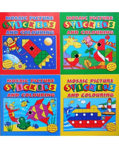 12 x Mosaic Sticker Fun Books