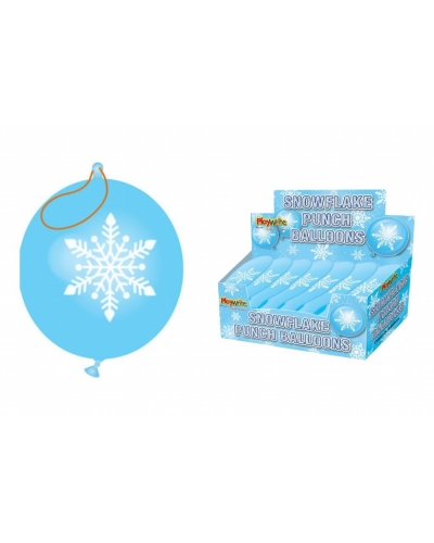 60 x Snowflake Punch Balloons