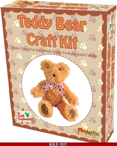 Wrapped Grotto Toys - Make Your Own Teddy Bear x6