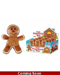 Image of 12 x Plush Gingerbread Men 21cm