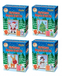 Image of 6 x Christmas Mosaic Picture Craft Kits