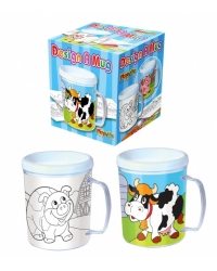 Image of 12 x Colour In Farm Animal Mugs