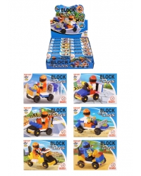 Image of 12 x Building Brick Car Kits