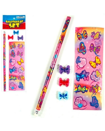 72 x Butterfly Sticker/Stationery Sets