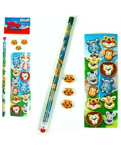 72 x Wild Animal Sticker/Stationery Sets