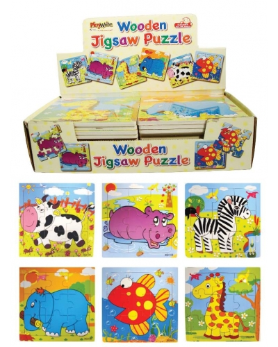 24 x Wooden Animal Jigsaw Puzzles