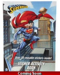 Image of 12 x Superman A4 Sticker Activity Books