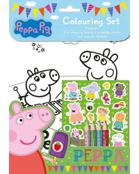 Image of 12 x Peppa Pig Colouring Sets