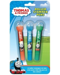 Image of 12 x Thomas The Tank Engine Roller Stamper Pens 3pk