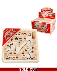 Image of 12 x Wooden Labyrinth Maze Puzzles