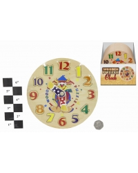 Image of 12 x Wooden Clock Puzzles