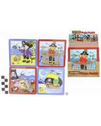 Image of 16 x Wooden Pirate Jigsaw Puzzles