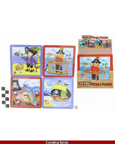 16 x Wooden Pirate Jigsaw Puzzles