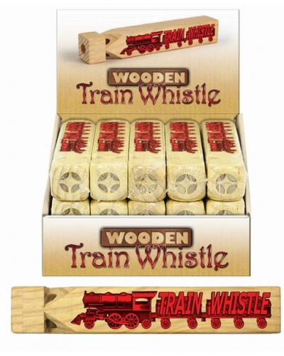 15 x Wooden Train Whistles 20cm